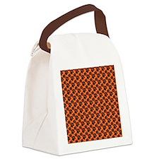 Dog Paws Clemson Orange Canvas Lunch Bag