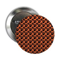 """Dog Paws Clemson Orange 2.25"""" Button"""