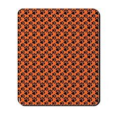 Dog Paws Clemson Orange Mousepad