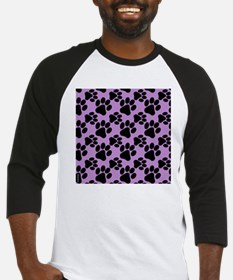 Dog Paws Light Purple Puppy Baseball Jersey