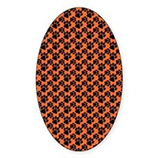 Dog Paws Clemson Orange Decal
