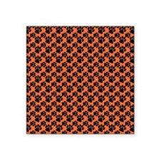 "Dog Paws Clemson Orange Square Sticker 3"" x 3"""