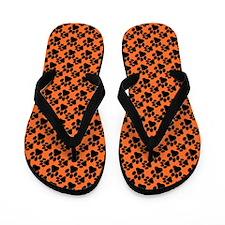 Dog Paws Clemson Orange Flip Flops