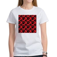 Dog Paws Red Puppy Tee