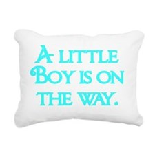A little Boy  is on the  Rectangular Canvas Pillow