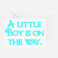 A little Boy  is on the way-blue Greeting Card
