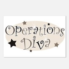 """""""Operations Diva"""" [brown] Postcards (Package of 8)"""