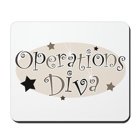 """Operations Diva"" [brown] Mousepad"