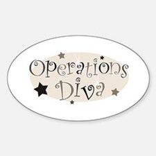 """""""Operations Diva"""" [brown] Oval Decal"""