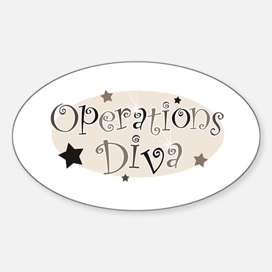 """Operations Diva"" [brown] Oval Decal"