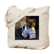Freida ready for her martial arts workout Tote Bag
