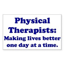 Physical Therapists Rectangle Decal