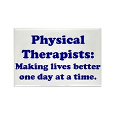 Physical Therapists Rectangle Magnet