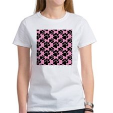 Dog Paws Pink Puppy Tee