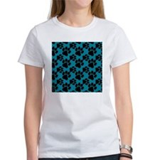 Dog Paws Teal Puppy Tee