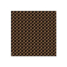 """Dog Paws Brown Square Sticker 3"""" x 3"""""""