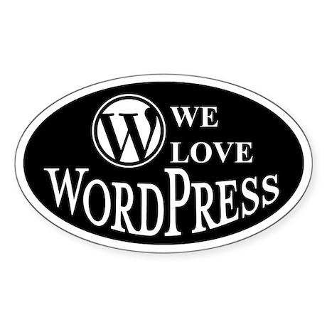 We love wordpress (Oval)