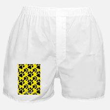 Dog Paws Yellow Boxer Shorts