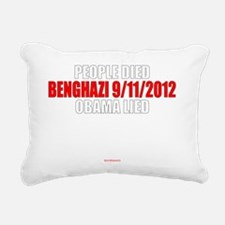 Beghazi - Obama Lied Rectangular Canvas Pillow