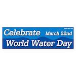 Celebrate World Water Day Sticker