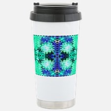 Pretty turquoise gr... Stainless Steel Travel Mug