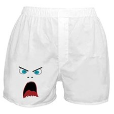 Funny shouting man face Boxer Shorts