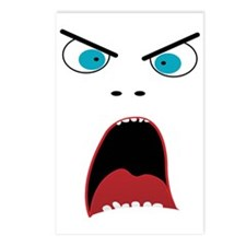 Funny shouting man face Postcards (Package of 8)