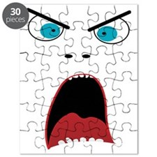 Funny shouting man face Puzzle
