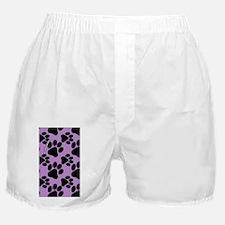Dog Paws Light Purple Boxer Shorts