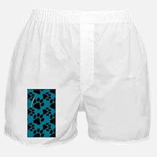 Dog Paws Teal Boxer Shorts