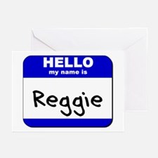 hello my name is reggie  Greeting Cards (Package o