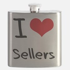 I Love Sellers Flask