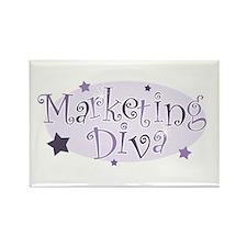 """Marketing Diva"" [purple] Rectangle Magnet"