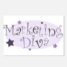 """Marketing Diva"" [purple] Postcards (Package of 8)"
