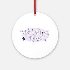 """Marketing Diva"" [purple] Ornament (Round)"
