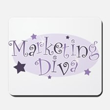 """Marketing Diva"" [purple] Mousepad"