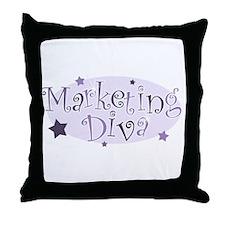 """Marketing Diva"" [purple] Throw Pillow"
