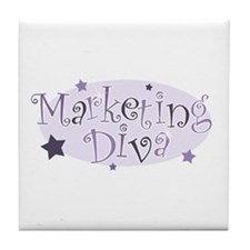 """Marketing Diva"" [purple] Tile Coaster"