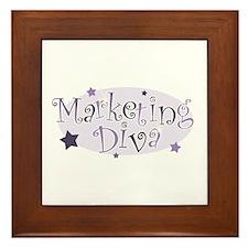 """""""Marketing Diva"""" [purple] Framed Tile"""