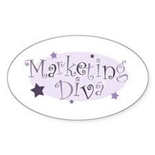 """Marketing Diva"" [purple] Oval Decal"