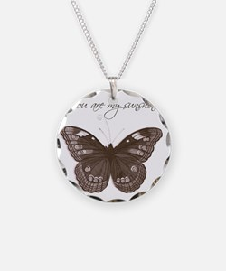 You are my Sunshine Butterfl Necklace