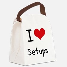 I Love Setups Canvas Lunch Bag