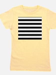 Black and white horizontal stripes Girl's Tee