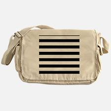 Black and white horizontal stripes Messenger Bag