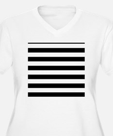 Black and white h T-Shirt