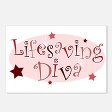 """Lifesaving Diva"" [red] Postcards (Package of 8)"