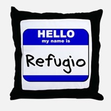 hello my name is refugio  Throw Pillow