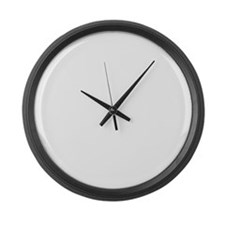 CANT SCARE ME/I WORK IN CUSTOMER  Large Wall Clock