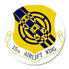 15th Airlift Wing Round Car Magnet