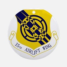 15th Airlift Wing Round Ornament